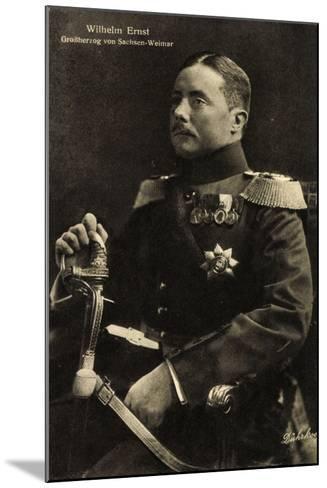 Wilhelm Ernst, Großherzog Von Sachsen Weimar,Uniform--Mounted Giclee Print