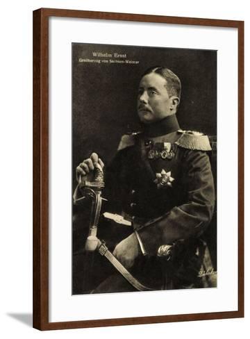 Wilhelm Ernst, Großherzog Von Sachsen Weimar,Uniform--Framed Art Print
