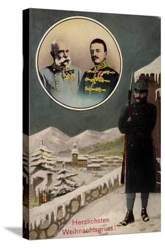 Frohe Weihnachten, Kaiser Franz Josef I, Wache--Stretched Canvas Print