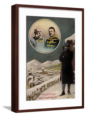 Frohe Weihnachten, Kaiser Franz Josef I, Wache--Framed Art Print