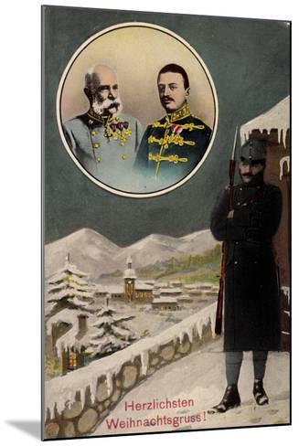 Frohe Weihnachten, Kaiser Franz Josef I, Wache--Mounted Giclee Print