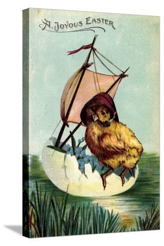 Künstler Präge a Joyous Easter, Chick, Sailor, Egg--Stretched Canvas Print