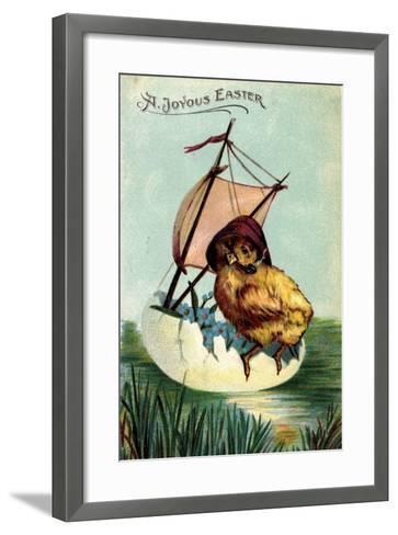 Künstler Präge a Joyous Easter, Chick, Sailor, Egg--Framed Art Print