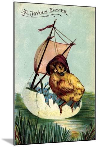 Künstler Präge a Joyous Easter, Chick, Sailor, Egg--Mounted Giclee Print