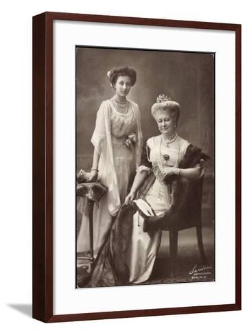 Kaiserin Auguste Viktoria, Prinzessin Viktoria Luise--Framed Art Print