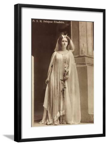 Portrait Der Prinzessin Elisabeth Von Rumänien--Framed Art Print