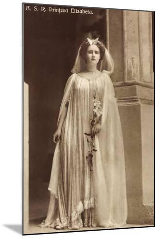 Portrait Der Prinzessin Elisabeth Von Rumänien--Mounted Giclee Print