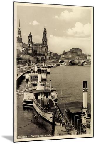 Dresden, Stadtblick, Dampfer Pillnitz, Kirche,Br?cke--Mounted Giclee Print