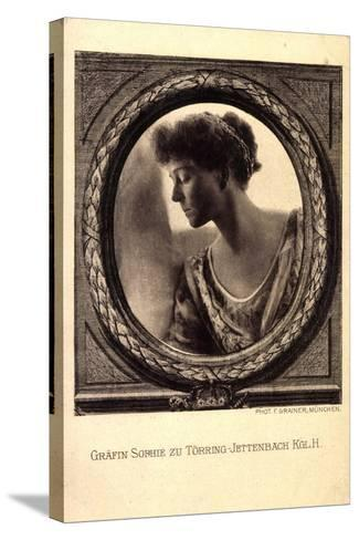 Gräfin Sophie Zu Törring Jettenbach, Bayern,Portrait--Stretched Canvas Print