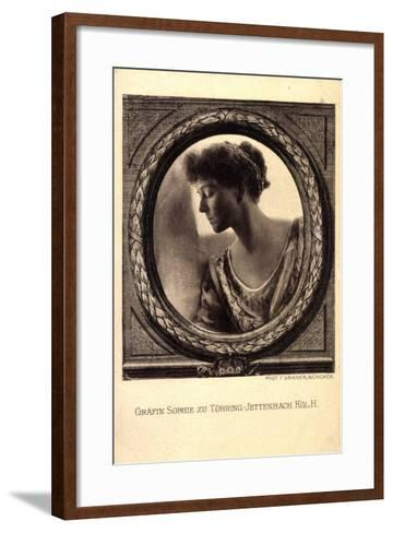 Gräfin Sophie Zu Törring Jettenbach, Bayern,Portrait--Framed Art Print