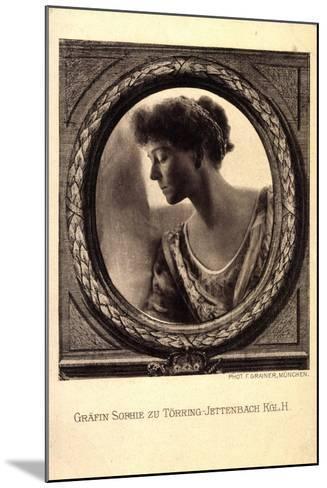 Gräfin Sophie Zu Törring Jettenbach, Bayern,Portrait--Mounted Giclee Print