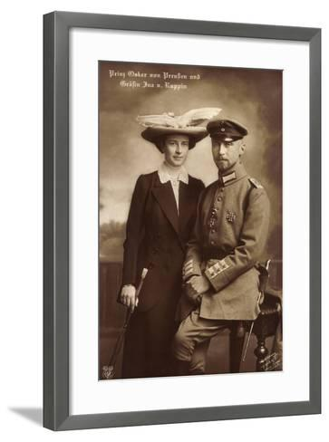 Prinz Oskar Von Preußen, Gräfin Ina V. Ruppin, Npg--Framed Art Print