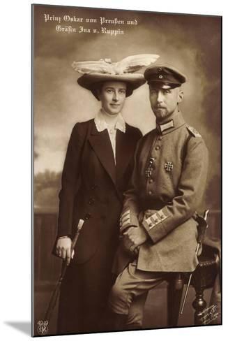 Prinz Oskar Von Preußen, Gräfin Ina V. Ruppin, Npg--Mounted Giclee Print