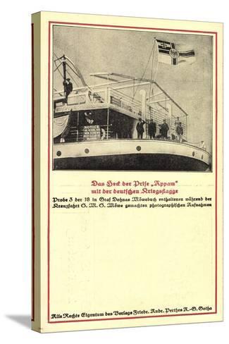 Heck Der Prise Appam, Möwebuch, Probe 3, Schiff, Fahne--Stretched Canvas Print