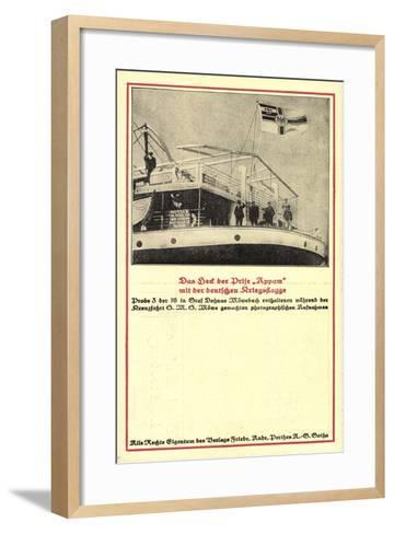 Heck Der Prise Appam, Möwebuch, Probe 3, Schiff, Fahne--Framed Art Print