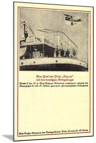 Heck Der Prise Appam, Möwebuch, Probe 3, Schiff, Fahne--Mounted Giclee Print