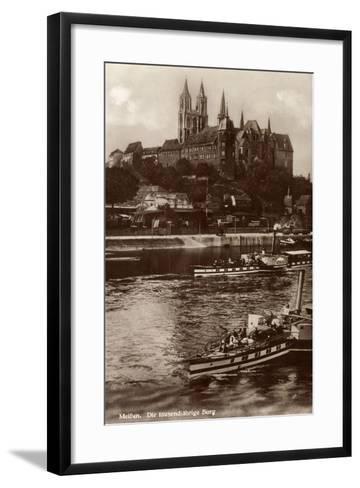 Meißen Sachsen, Dampfer Germania,Tausendjährige Burg--Framed Art Print