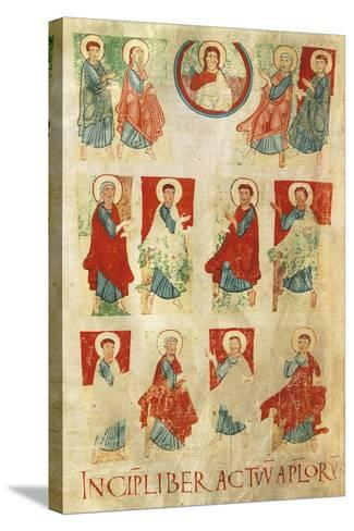 Christ and the Twelve Apostles, Miniature from the Atlantic Bible, Manuscript 11th Century--Stretched Canvas Print