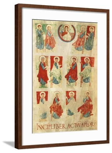 Christ and the Twelve Apostles, Miniature from the Atlantic Bible, Manuscript 11th Century--Framed Art Print
