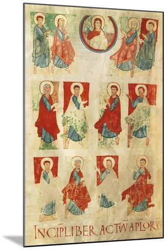 Christ and the Twelve Apostles, Miniature from the Atlantic Bible, Manuscript 11th Century--Mounted Giclee Print