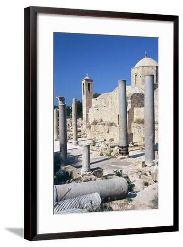Cyprus, Paphos, Panagia Chrysopolitissa Church and St Paul's Pillar--Framed Art Print