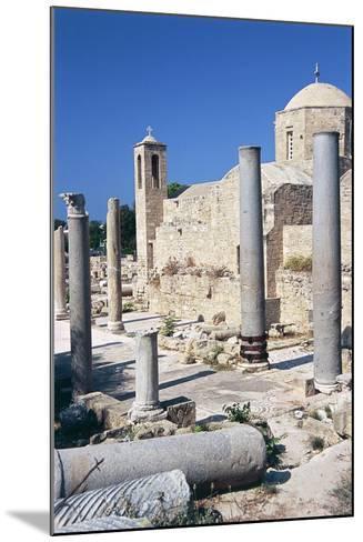 Cyprus, Paphos, Panagia Chrysopolitissa Church and St Paul's Pillar--Mounted Giclee Print