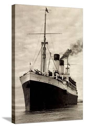Hamburg Süd, HSDG, M.S. Monte Sarmiento, Dampfer--Stretched Canvas Print