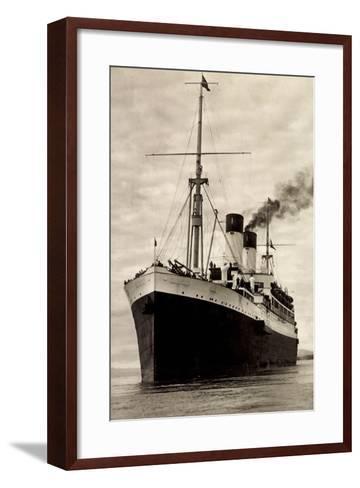 Hamburg Süd, HSDG, M.S. Monte Sarmiento, Dampfer--Framed Art Print