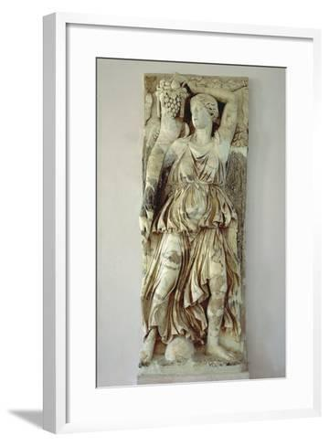 Marble Relief Depicting Victory Holding a Cornucopia from Byrsa Hill, Carthage, Tunisia--Framed Art Print