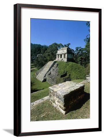 Mexico, Chiapas, Palenque, Mayan Archaeological Site, Temple of Count--Framed Art Print