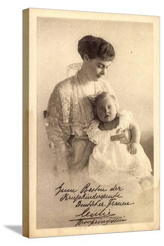 Kronprinzessin Cecilie Von Preußen Mit Tochter--Stretched Canvas Print