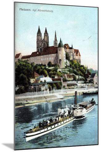 Meissen, Ein Dampfer Auf Der Elbe, Albrechtsburg--Mounted Giclee Print