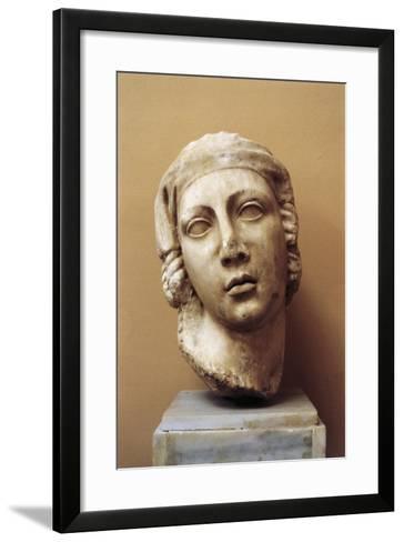 Egypt, Alexandria, Female Head--Framed Art Print