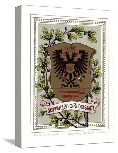 Wappen Schwarzburg Rudolstadt, Adler, Eichenbl?tter--Stretched Canvas Print