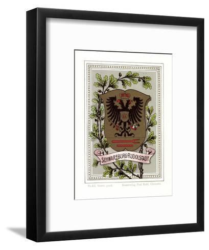 Wappen Schwarzburg Rudolstadt, Adler, Eichenbl?tter--Framed Art Print