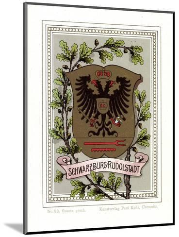Wappen Schwarzburg Rudolstadt, Adler, Eichenbl?tter--Mounted Giclee Print