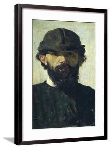 Self-Portrait by Domenico Morelli--Framed Art Print
