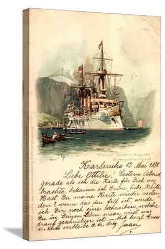 K?nstler Lihto Meissner Buch, Kreuzer Kaiserin Augusta--Stretched Canvas Print