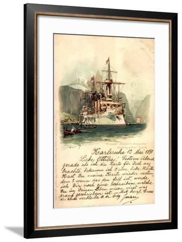 K?nstler Lihto Meissner Buch, Kreuzer Kaiserin Augusta--Framed Art Print