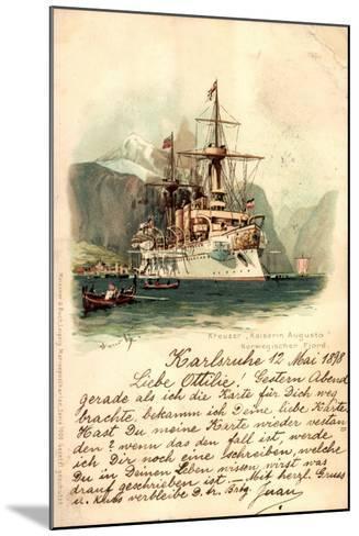 K?nstler Lihto Meissner Buch, Kreuzer Kaiserin Augusta--Mounted Giclee Print