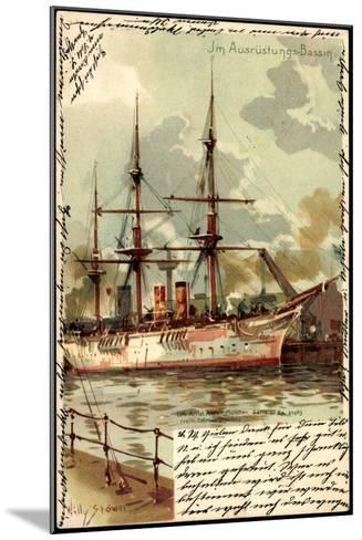 Künstler Litho Stöwer, W.,Ausrüstungsbecken,Segelschiff--Mounted Giclee Print