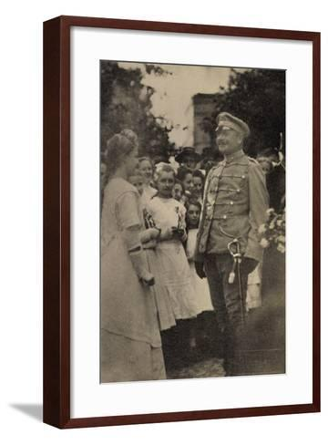 Foto König Friedrich August III, Husarenuniform--Framed Art Print