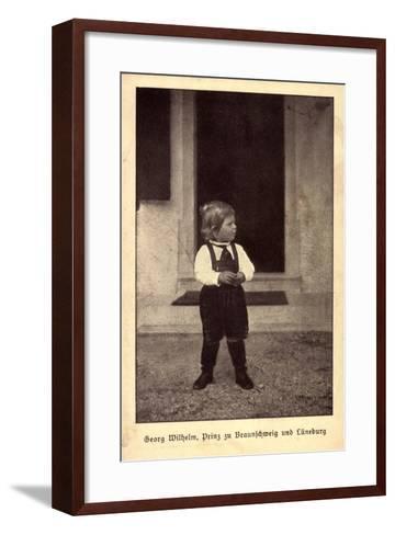 Georg Wilhelm, Prinz Zu Braunschweig Und L?neburg--Framed Art Print
