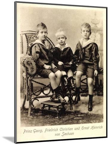 Prinz Georg, Fr. Christian,Ernst Heinrich V. Sachsen--Mounted Giclee Print