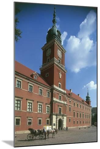 Poland, Warsaw, Historic Centre, Royal Castle, Zamek Krolewski and Square--Mounted Giclee Print