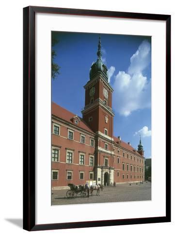 Poland, Warsaw, Historic Centre, Royal Castle, Zamek Krolewski and Square--Framed Art Print