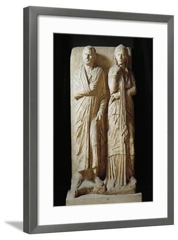 Italy, Rome, Funerary Stele from Via Statilia--Framed Art Print