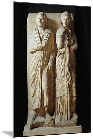 Italy, Rome, Funerary Stele from Via Statilia--Mounted Giclee Print
