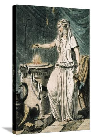 Theatrical Costume for Role of Vestal France--Stretched Canvas Print