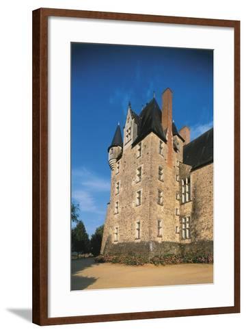 France, Loire Valley, Maine-Et-Loire, Bauge, Castle--Framed Art Print